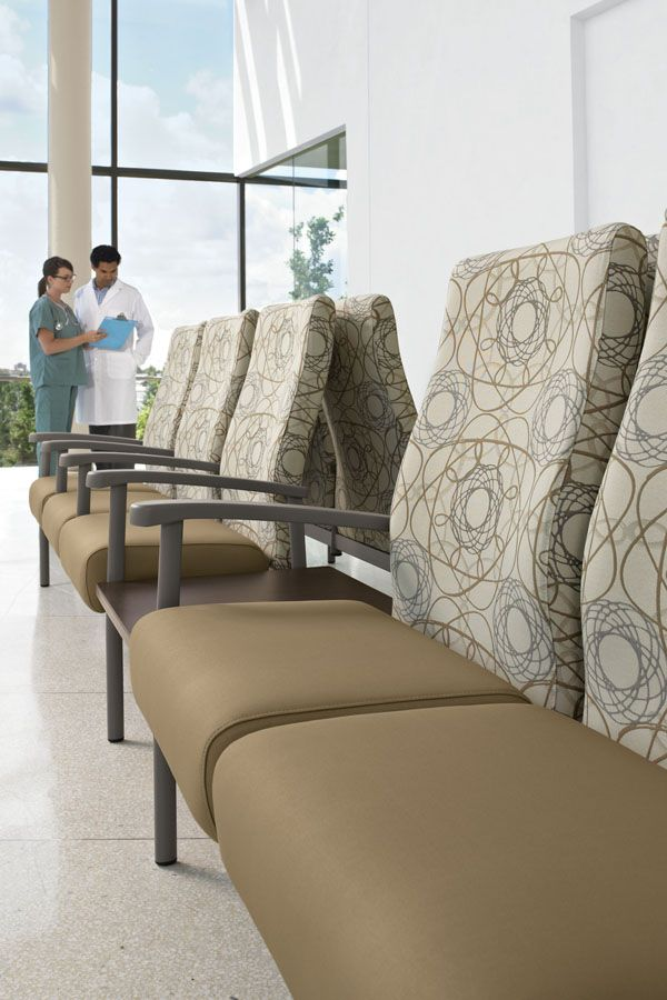 The series includes individual chairs for patient rooms for Furniture configurations for small spaces