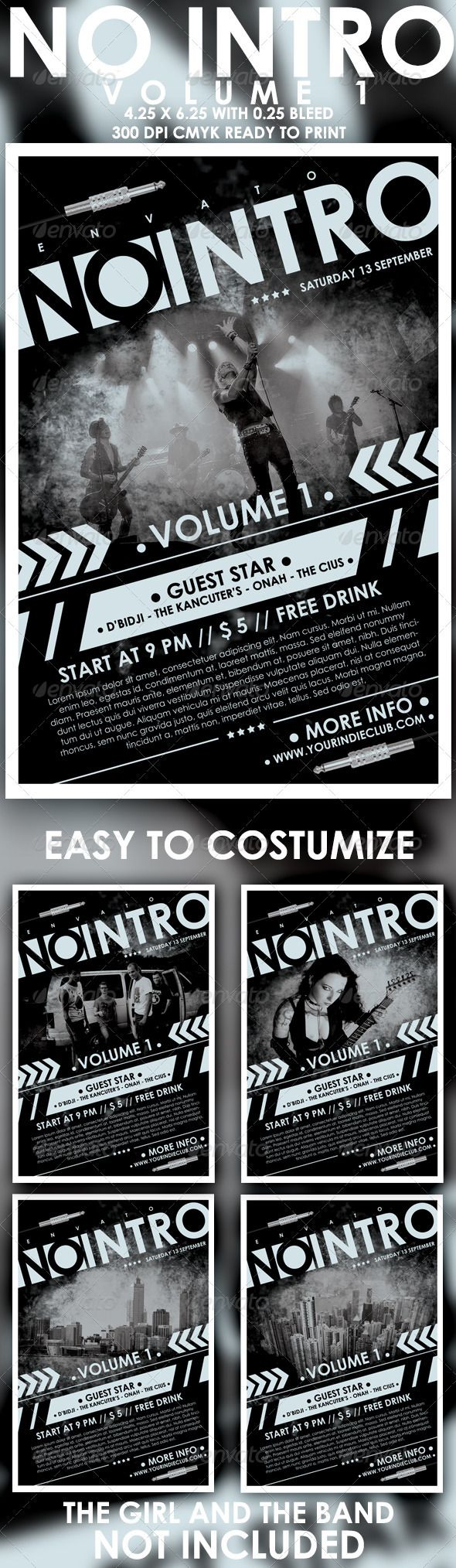 874 best Concert Flyer Templates images on Pinterest | Concert flyer ...