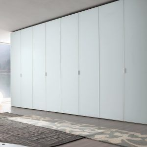 Frosted Glass Hinged Wardrobe Doors