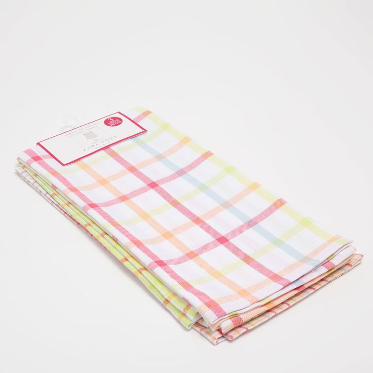 Image 6 of the product Multicoloured check tea towel (set of 3)