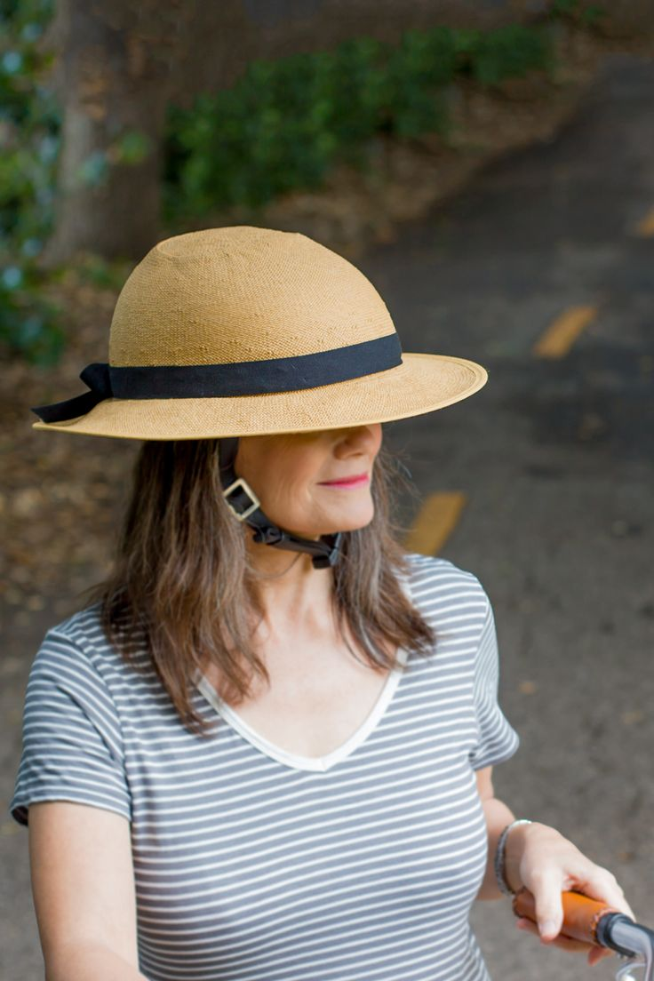 The Straw Hat Bike Helmet