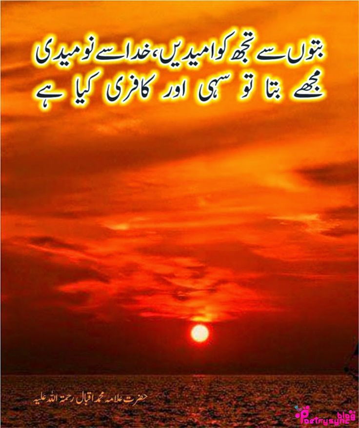 Poetry: Allama Iqbal Inspirational Poetry Collection About