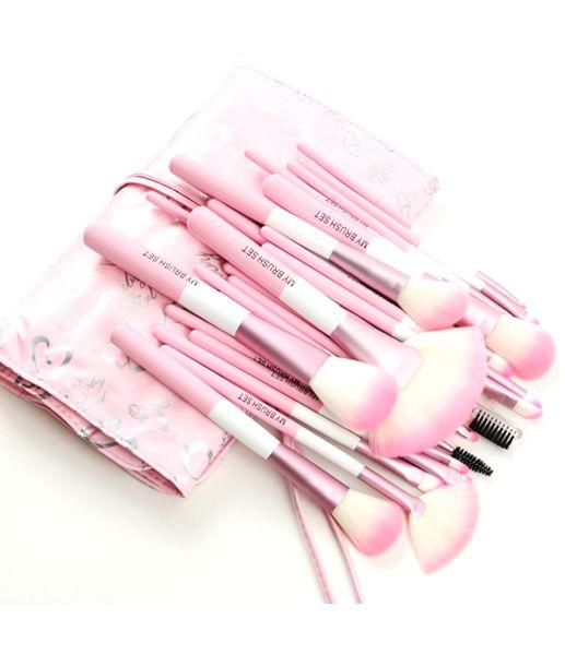 Babylicious Pink Heart 24 Piece Set , Make Up Brush - MyBrushSet, My Make-Up Brush Set  - 3