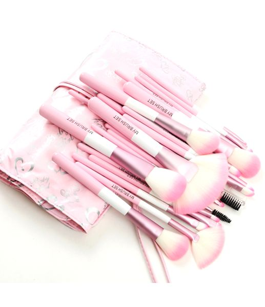Get Your Babylicious Pink Heart 24 Piece Set. Hurry, before it is gone! Limited Time Remaining. In Stock - Ships in 24 Hours From New York. Link --> http://www.mymakeupbrushset.com/collections/brush-set/products/babylicious-pink-heart-24-piece-set