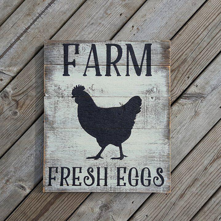 Kitchen Decor Signs farm fresh eggs rustic barn board sign - farm fresh eggs sign