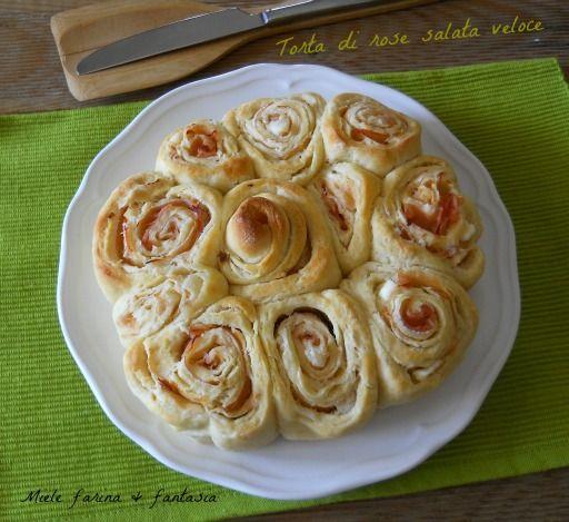 Torta di rose salata veloce con fesa di tacchino e formaggio
