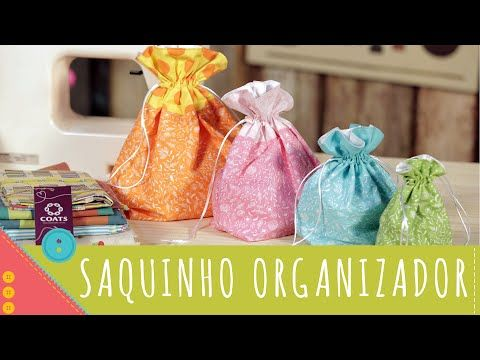 SAQUINHO FLORAL - Costura - Diy | Dica de Arte - YouTube