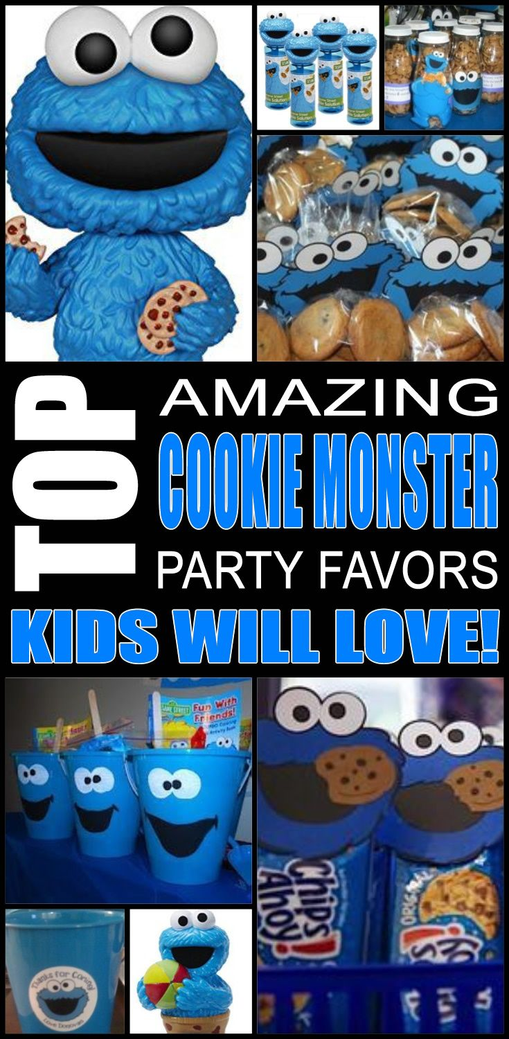 Fun cookie monster party favor ideas that kids, tweens and teens will love. Try these simple diy cookie monster party favors for boys and girls. Here are some easy gift bags, treat bags and more birthday ideas to say thank you to the friends of that special birthday child.