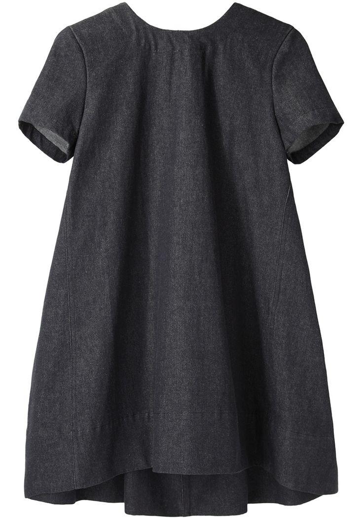 Pleated Denim Mini Dress by Charles Anastase