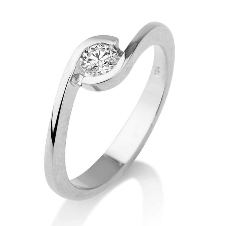 Verlobungsring in 585er Weißgold - 0.50 Karat Solitär Diamant vom Juwelierhaus Abt in Dortmund günstig kaufen.  #diamantring #verlobung #weissgold #diamant #brillant #juwelier #abt #dortmund
