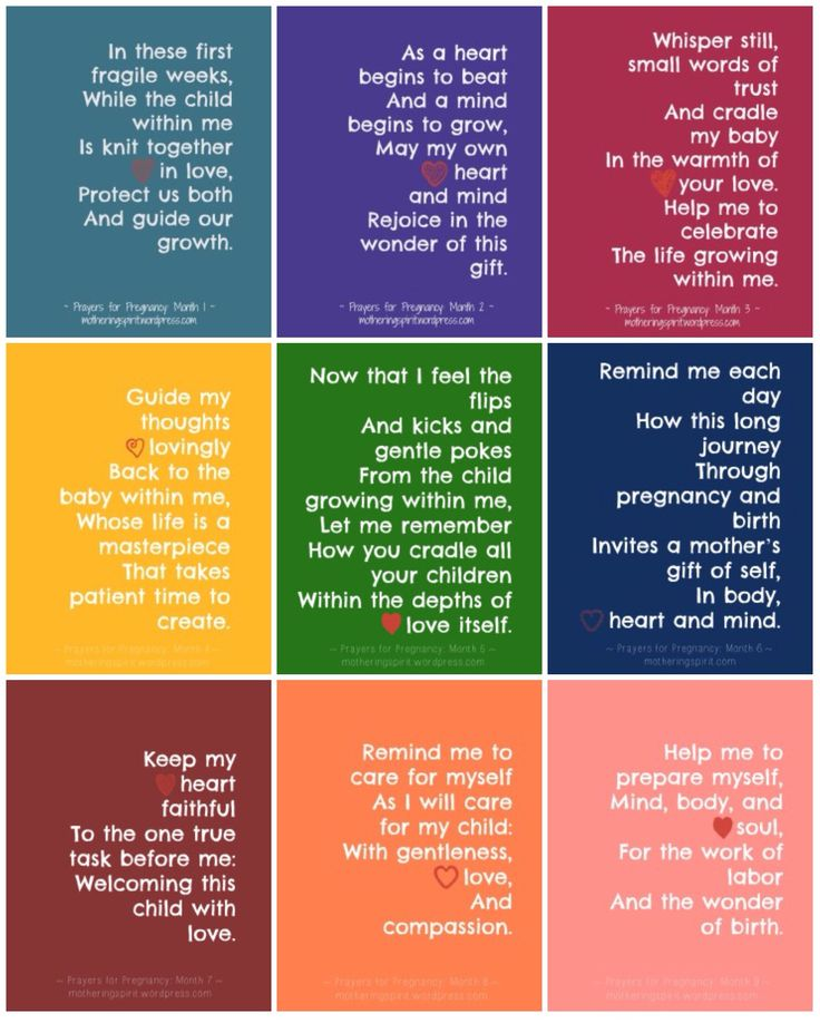 Pregnancy prayers (9 months)