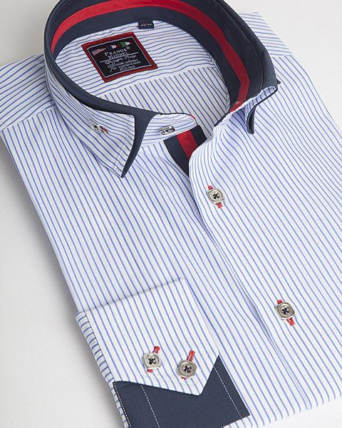 Unique double collar shirt by Franck Michel Paris