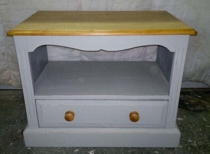 Smaller TV Unit Painted In Farrow U0026 Ball U0027manor House Grayu0027, Waxed U0026