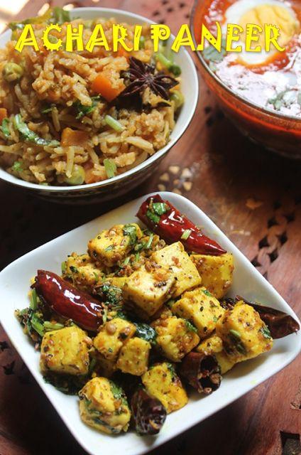 YUMMY TUMMY: Achari Paneer Recipe - Achari Paneer Dry Recipe