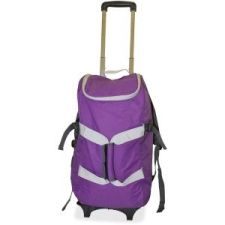 """Dbest Travel/Luggage Case (Rolling Backpack) for 17"""" Notebook, Travel Essential- Purple, 4-in-1 utilities, Duffle Bag,  Lightweight Dolly, High-Quality, 6 oversized deep pockets, Stores your 17"""" laptop, Oversized capacity 