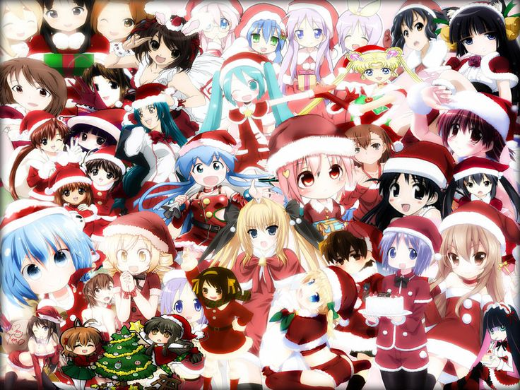 237 best images about christmas anime on pinterest - Anime merry christmas wallpaper ...