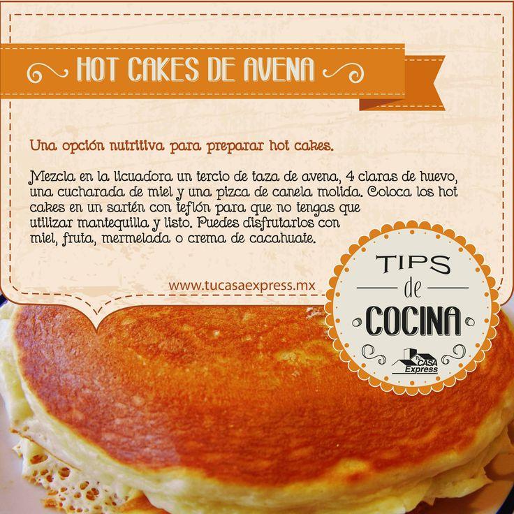 Hot Cakes de avena, una opción nutritiva.