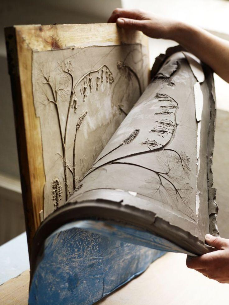 clay peeling off tile - Rachel Dein