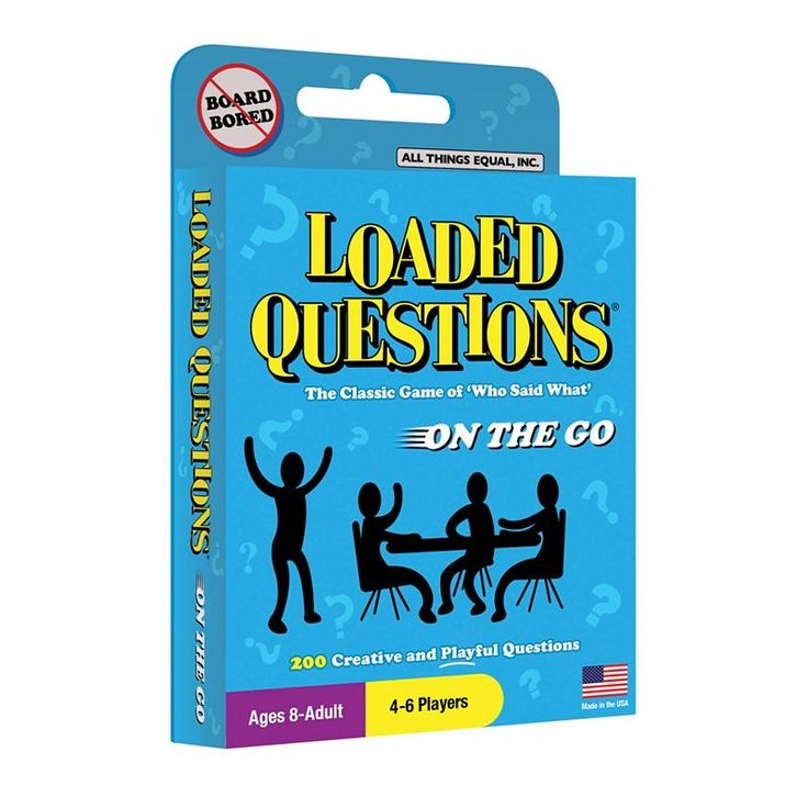 Loaded Questions On-The-Go Card Game by All Things Equal, Multicolor