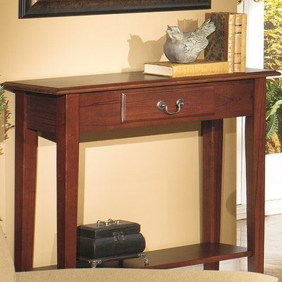 Alcott Hill Revere Traditional Console Table Finish: Red Cherry