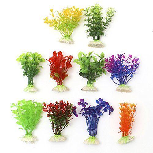 From 3.60 10 X Aquarium Artificial Plants Fish Tank Ornaments By Flissy