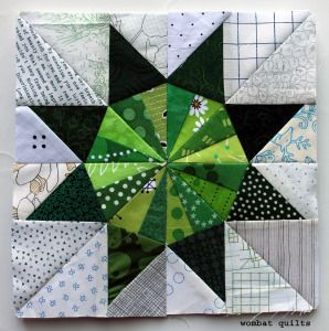 = free pattern = Turning Star quilt block by Cath Hall | Wombat Quilts