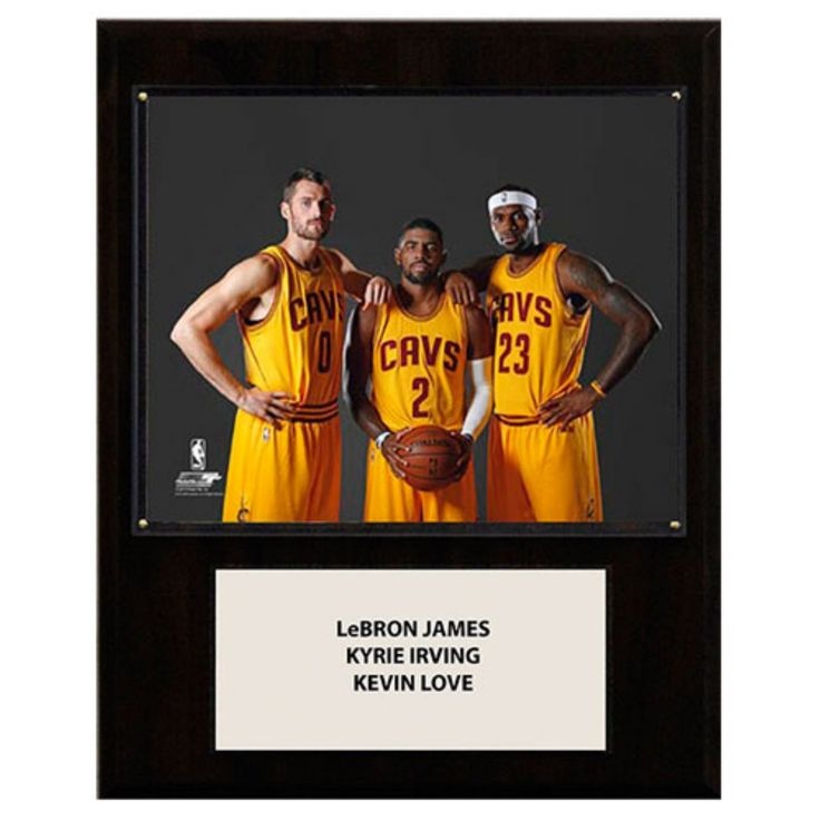 C and I Collectables NBA 15W x 12H in. LeBron James-Irving-Love Cleveland Cavaliers Player Plaque - 1215CAVS3