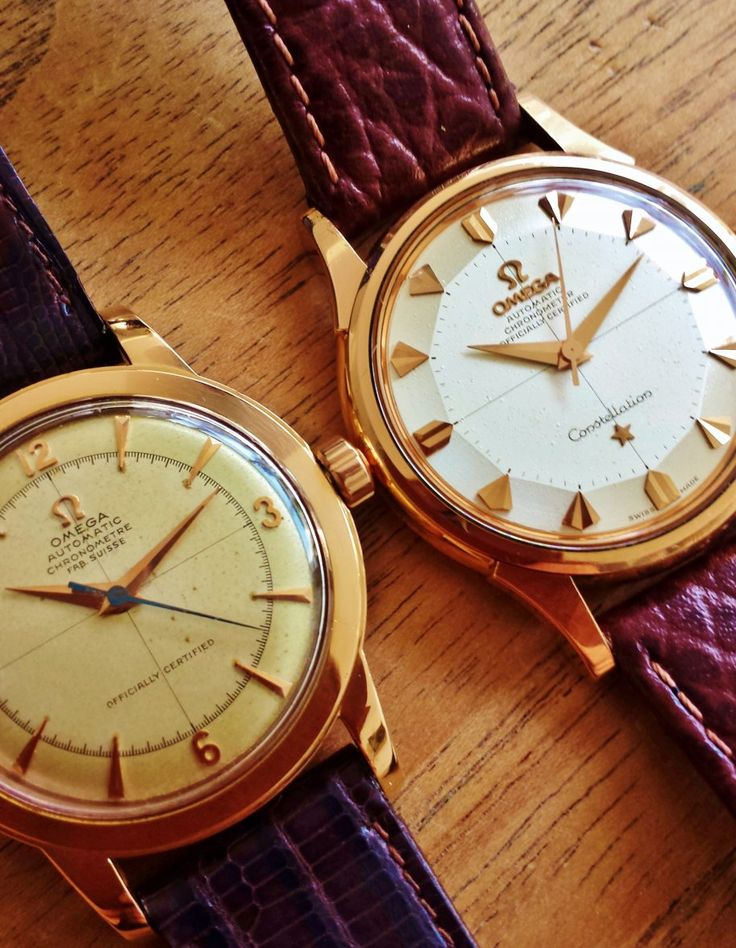Vintage OMEGA Constellation Piepan & Bumper Chronometer In 18K Solid Rose Gold