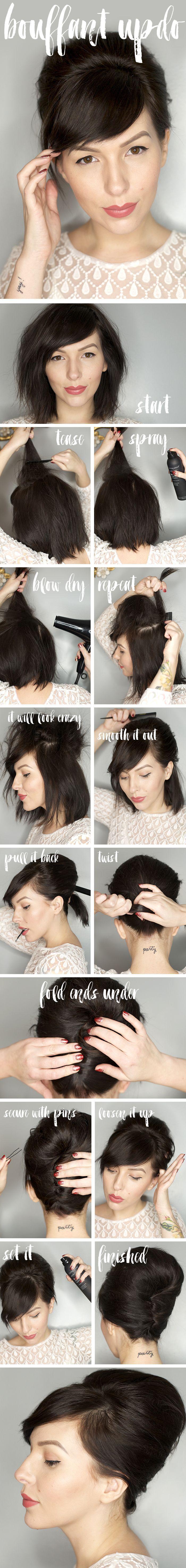 Bouffant Updo Hair Tutorial (keiko lynn) - http://hairstylezones.com/2016/06/12/bouffant-updo-hair-tutorial-keiko-lynn/