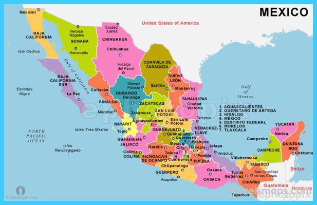 Map Of Mexico Mexico Mexico Destination