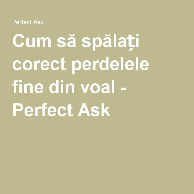 Cum să spălați corect perdelele fine din voal - Perfect Ask