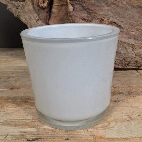 Λευκή διακοσμητική γυάλα για κερί ή λουλούδια.Για μεγαλύτερη ποσότητα μπορείτε να επικοινωνήσετε μαζί μας.http://nedashop.gr/Spiti-Diakosmhsh/gyales/leykh-gyala