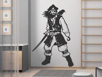 Wandtattoo Pirat