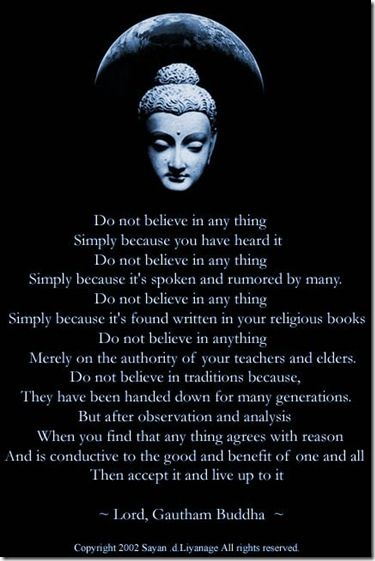 Question for a Buddhist?