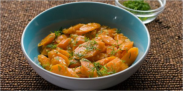 Bittman's braised carrots. Although not the Bittman recipe I usually use, these do look good.