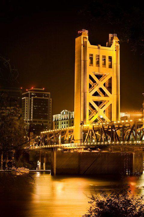 Tower Bridge, Sacramento, California http://ethanvanderbuilt.com/2013/06/27/my-hometown-sacramento-california/ I live really close! It's gorgeous!