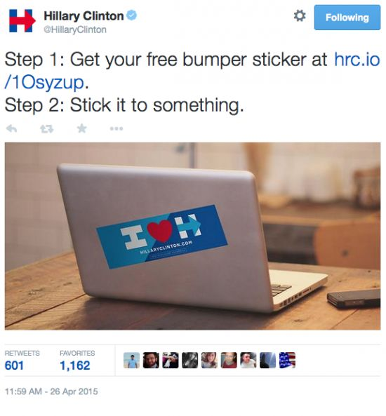 Hillary Campaign Has To Explain To Brain Dead Supporters What To Do With Their Free Bumper Sticker…Update: Hillary Team Commits Cat Abuse