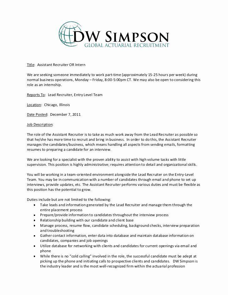 Research Assistant Job Description Resume Beautiful Administrative Assistant Job D Job Resume Samples Recruiter Resume Administrative Assistant Job Description