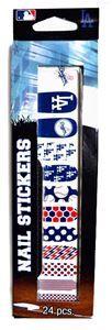 Los Angeles Dodgers Nail Stickers 24ct - 329816   trendyhalloween.com