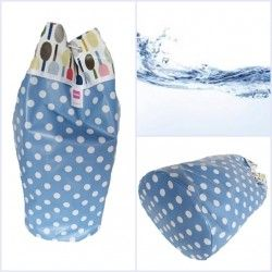 zwem/gym tas      hemelsblauw stip