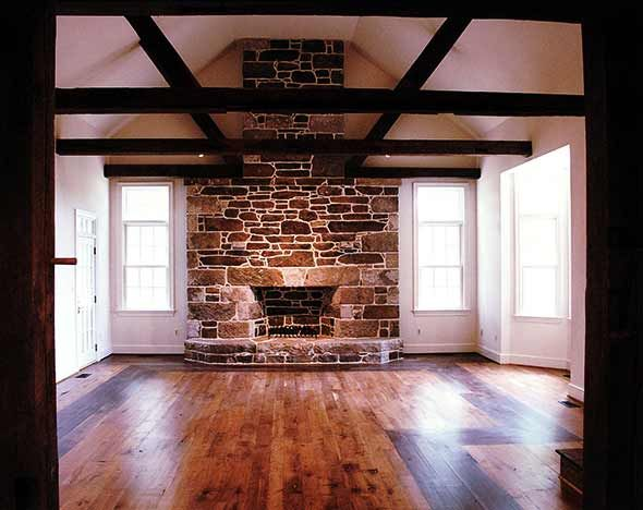 Stone Fireplace Salon Nico Pinterest Beam Ceilings