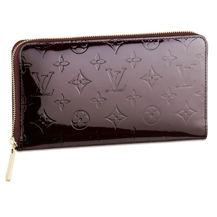 The Amarante Wallet, to match the Brea MM Louis Vuitton Monogram Vernis  Zippy Organizer Amarante
