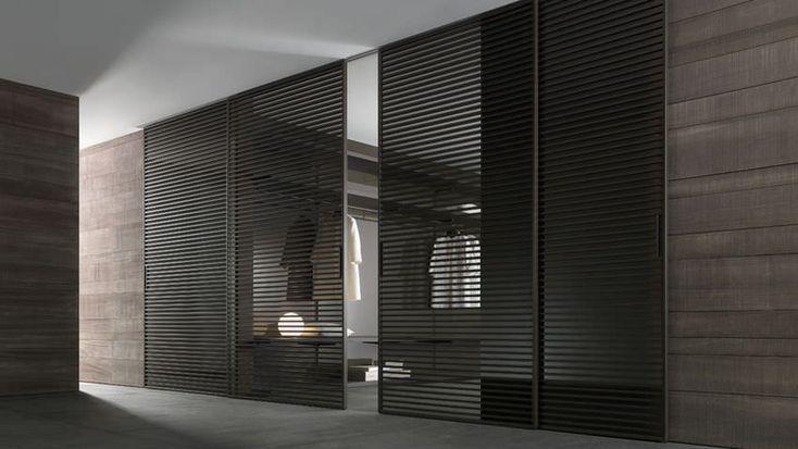 porte coulissante en aluminium toute hauteur stripe