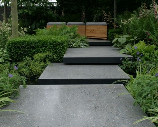 Polished concrete paving stones