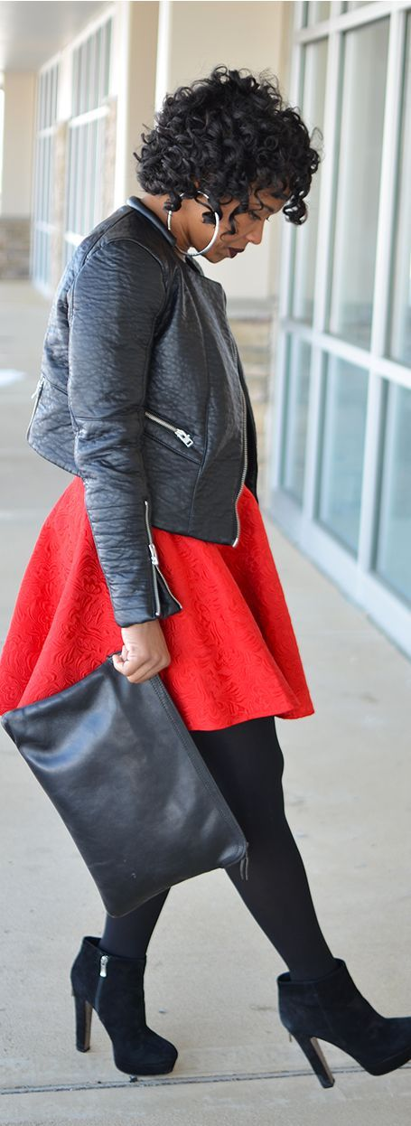 How to wear the red dress without looking frumpy - plus size fashion for women