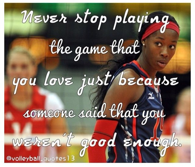 i need to remember this if i don't make club.  Tryouts are tomorrow and i'm really nervous and the competition is really tough.  but i'll never stop playing even if i am cut