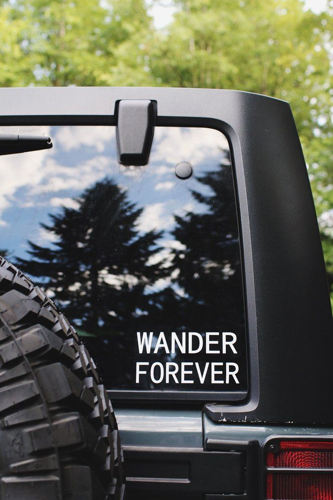 WANDER FOREVER decal! Wish You Were Northwest