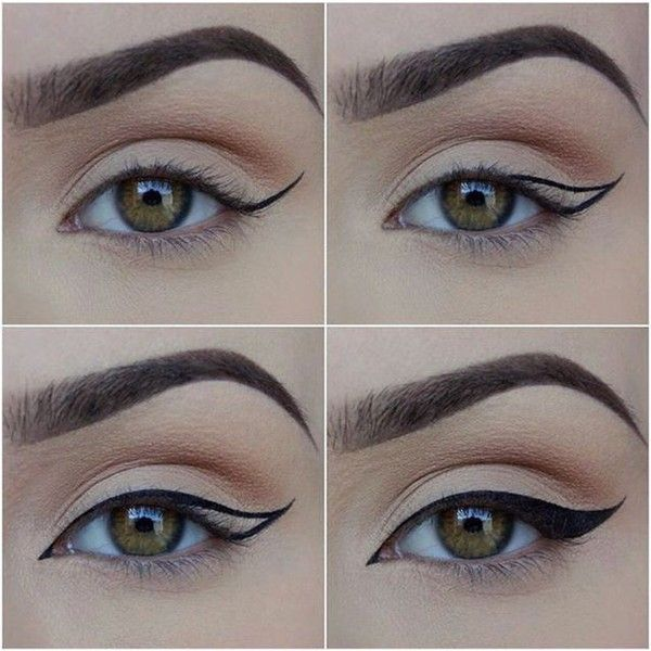 omghow How To Put on Liquid Eyeliner ❤ liked on Polyvore featuring beauty products, makeup, eye makeup, eyeliner, liquid eyeliner and liquid eye liner