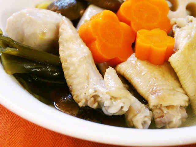 コラーゲンたっぷり♪鶏と根菜の美肌スープの画像