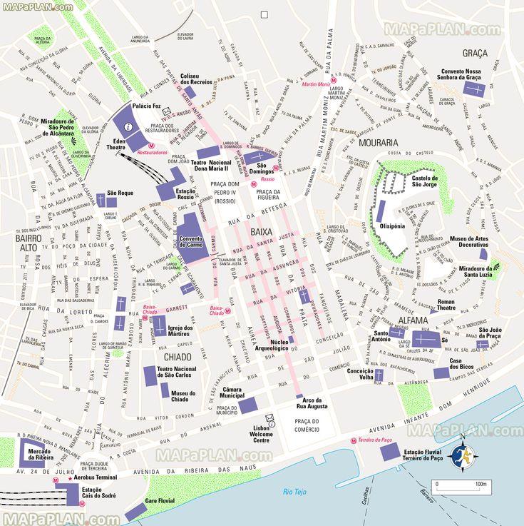 The Best Lisbon Map Ideas On Pinterest - Portugal historical map